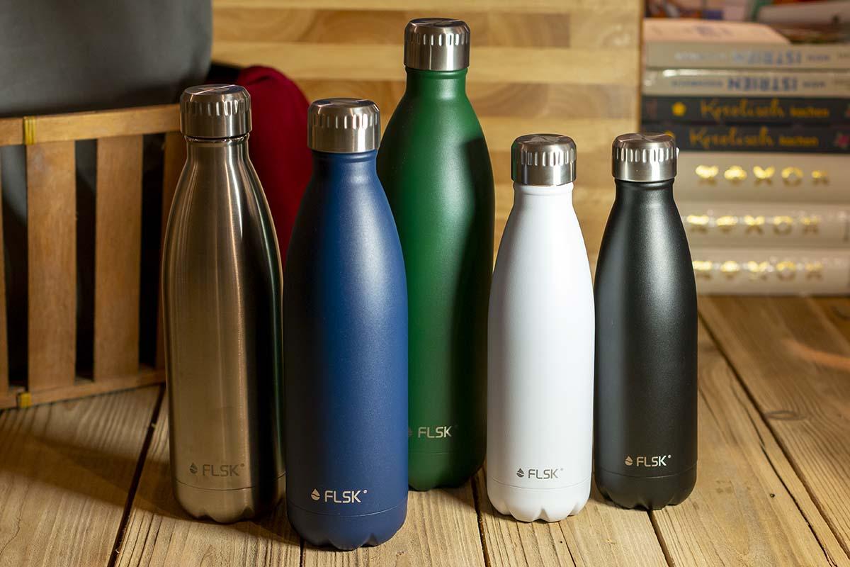 FLSK: Thermosflaschen / 0,5 l - 36,95 € / 0,75 l - 44,95 € / 1 l - 52,95 €