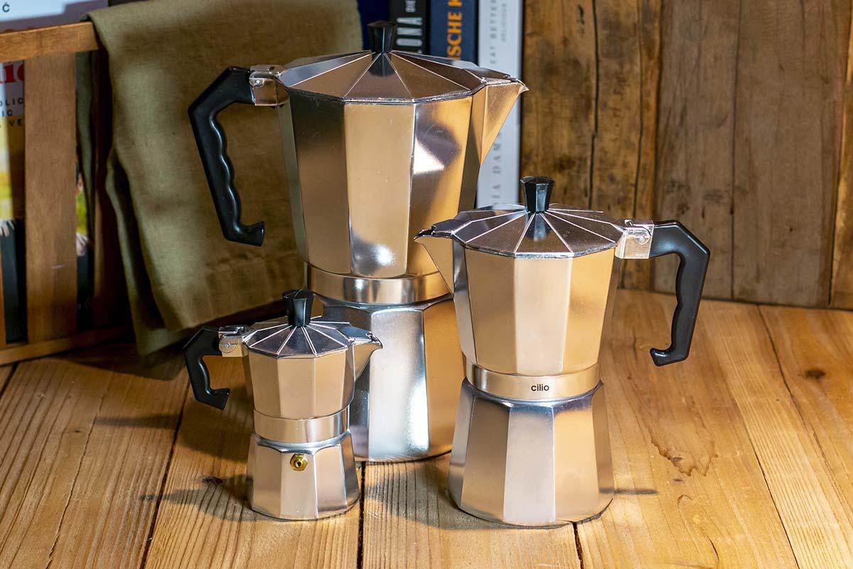 Cilio: Espressokocher, Aluminium / 14,95 € / 22,95 € / 32,95 €
