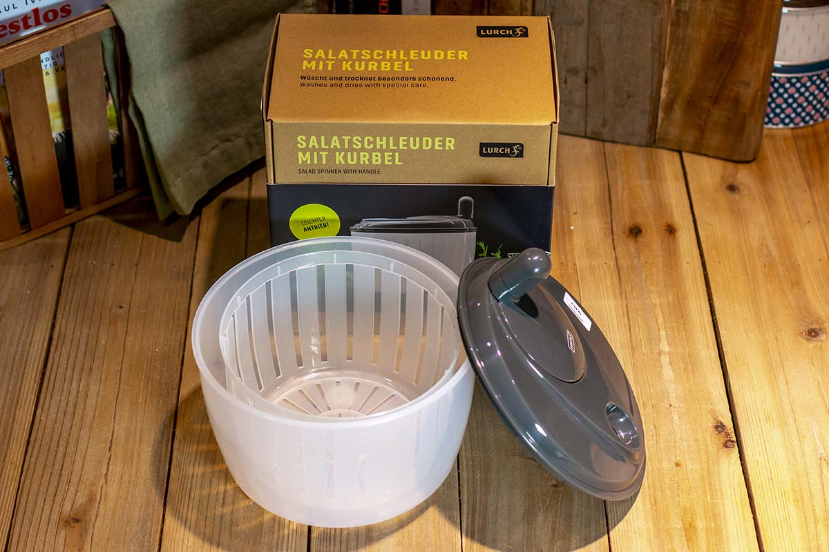 Lurch: Salatschleuder mit Kurbel / 19,95 €